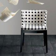 mademoiselle-poltroncina-kartell-di-design-struttura-in-policarbonato-nero-tessuto-pois-nero